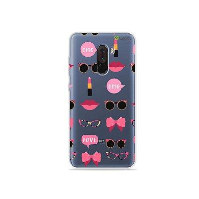 Capa (transparente) para Xiaomi Pocophone F1 - Girls