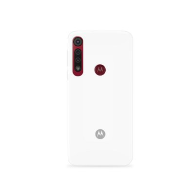 Silicone Case Branca para Moto G8/G8 Plus - 99Capas