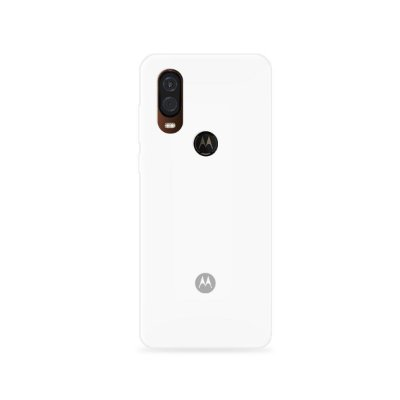Silicone Case Branca para Moto One Vision - 99Capas