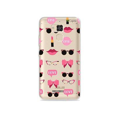 Capa (transparente) para Zenfone 3 Max - 5.2 Polegadas - Girls