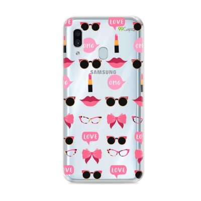 Capa (transparente) para Galaxy A30 - Girls