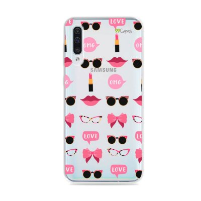 Capa (transparente) para Galaxy A50 - Girls