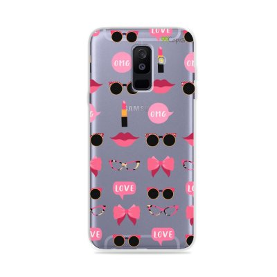 Capa (transparente) para Galaxy A6 Plus - Girls