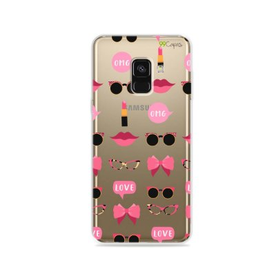 Capa (transparente) para Galaxy A8 - Girls