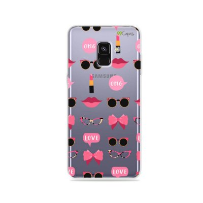 Capa (transparente) para Galaxy A8 Plus - Girls
