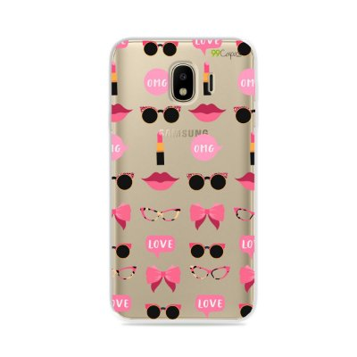 Capa (transparente) para Galaxy J4 2018 - Girls