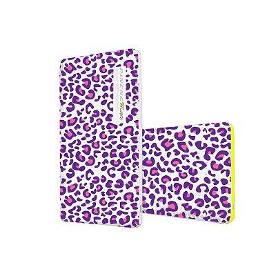 Mini Carregador de Bolso Portátil Powerbank Pineng 5000mah (branco) - Animal Print Purple