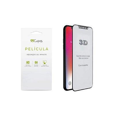 Película de Vidro 3D (borda preta) para iPhone X/XS - 99Capas