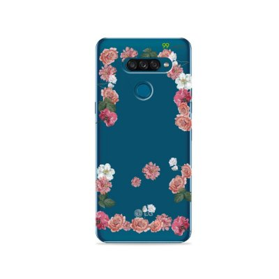 Capa para LG K50s - Pink Roses