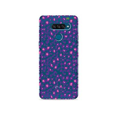 Capa para LG K50s - Animal Print Purple