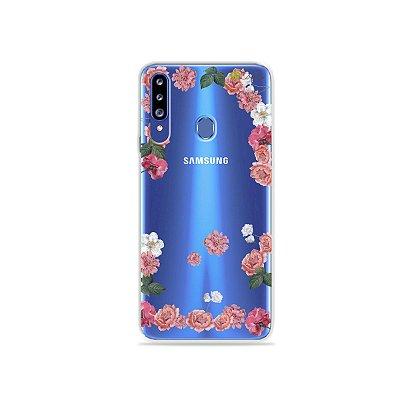 Capa para Galaxy A20s - Pink Roses