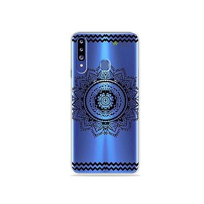 Capa para Galaxy A20s - Mandala Preta