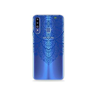 Capa para Galaxy A20s - Mandala Azul