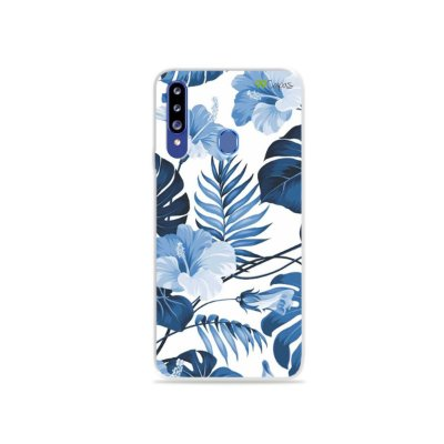 Capa para Galaxy A20s - Flowers in Blue