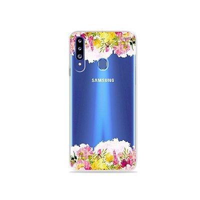 Capa para Galaxy A20s - Botânica