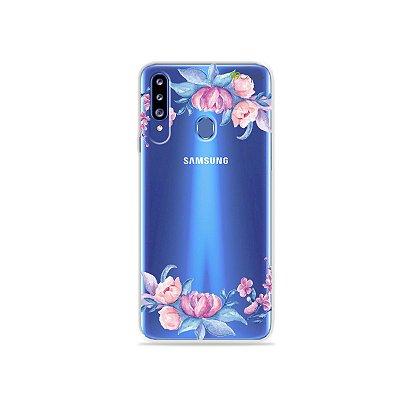 Capa para Galaxy A20s - Bromélias