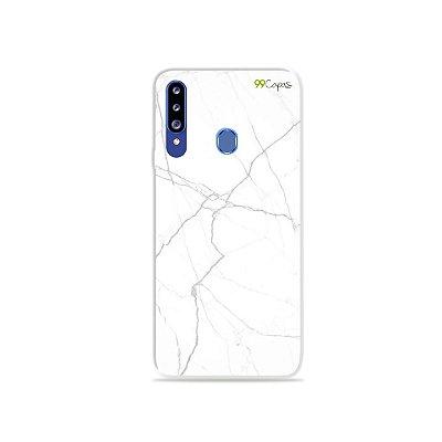 Capa para Galaxy A20s - Marble White