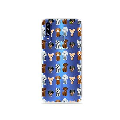 Capa para Galaxy A20s - Doguinhos
