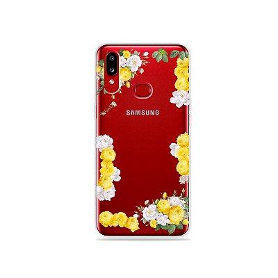 Capa para Galaxy A10s - Yellow Roses