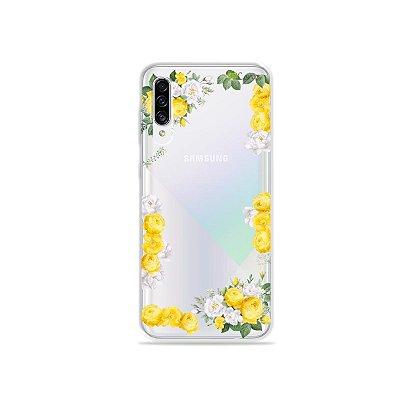 Capa para Galaxy A30s - Yellow Roses