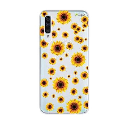 Capa para Galaxy A50s - Girassóis