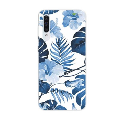Capa para Galaxy A50s - Flowers in Blue