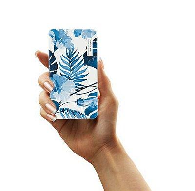 Mini Carregador de Bolso Portátil Powerbank Pineng 5000mah (branco) - Flowers in Blue