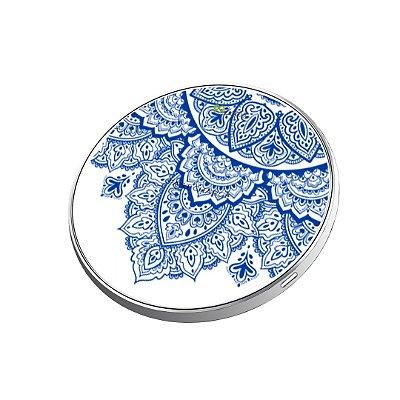 Carregador Wireless sem fio - Mandala Azul