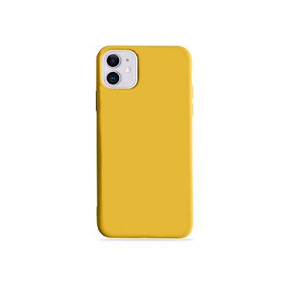 Silicone Case Amarela para iPhone 11 (acompanha Pop Socket) - 99Capas