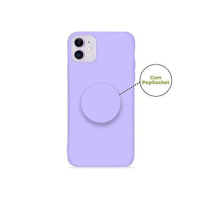 Silicone Case Lilás para Iphone 11 (acompanha Pop Socket) - 99Capas