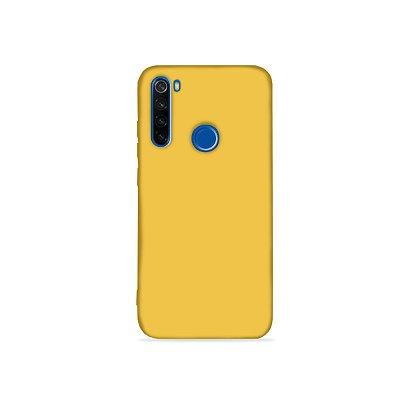 Silicone Case Amarela para Redmi Note 8 (acompanha Pop Socket) - 99Capas