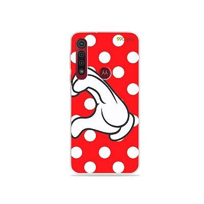 Capa para Moto G8 Play - Coração Minnie