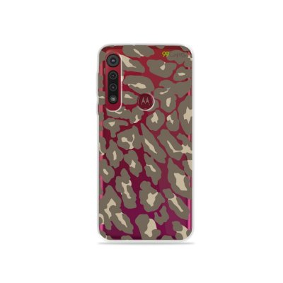 Capa para Moto G8 Play - Animal Print Nude