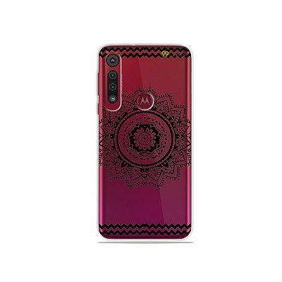 Capa para Moto G8 Play - Mandala Preta