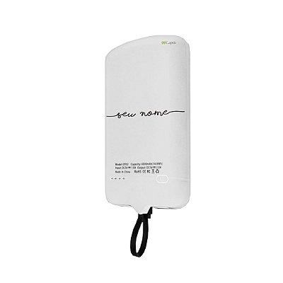 99Snap Powerbank - Micro USB V8 ( Carregador portátil para celular) personalizado com nome