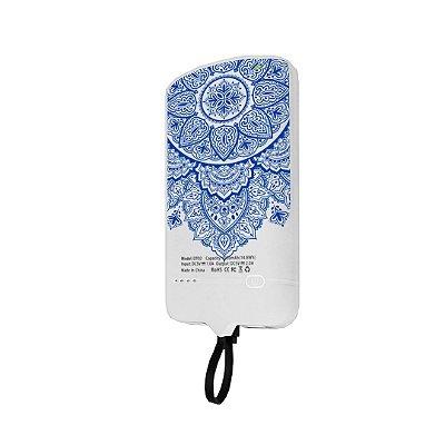 99Snap Powerbank - Lightning ( Carregador portátil para celular) Mandala Azul