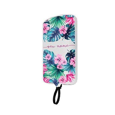 99Snap Powerbank - Lightning ( Carregador portátil para celular) Tropical com nome personalizado