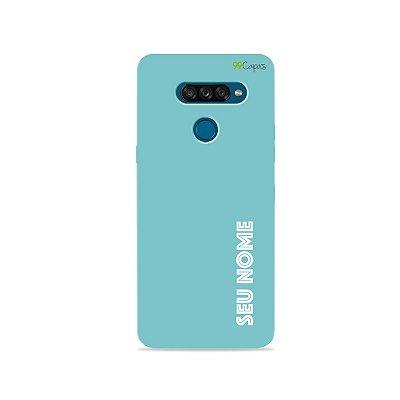 Capa Color Azul com nome personalizado - 99Capas