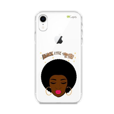 Capinha (transparente) para iPhone XR - Black lives