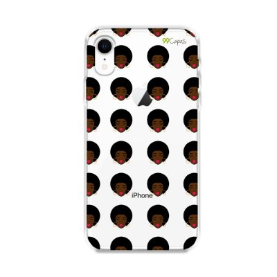 Capinha (transparente) para Iphone XR - Black girl