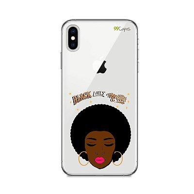 Capinha (transparente) para Iphone XS Max - Black Lives
