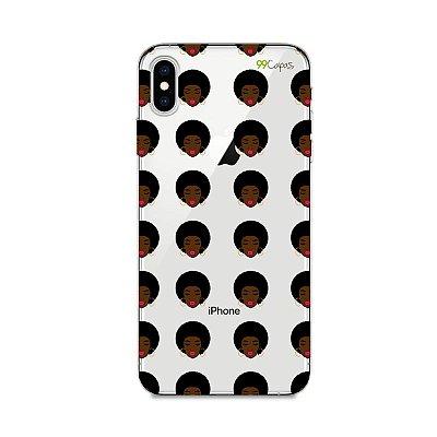 Capinha (transparente) para Iphone XS Max - Black Girl