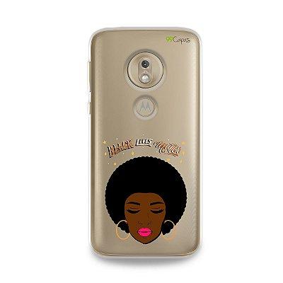 Capinha (transparente) para Moto G7 Play - Black Lives
