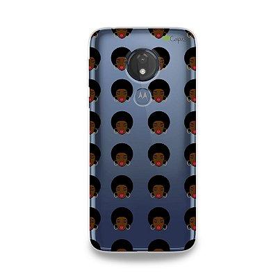 Capinha (transparente) para Moto G7 Power - Black Girl