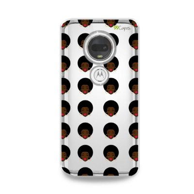 Capinha (transparente) para Moto G7 Plus - Black girl