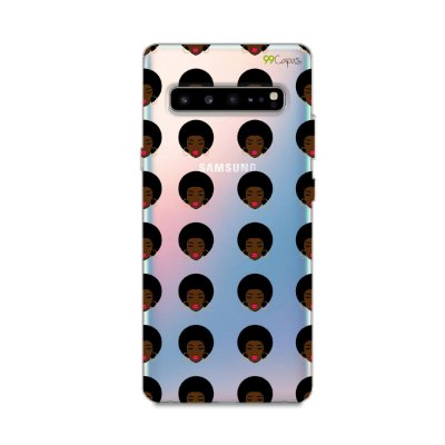 Capinha (transparente) para Galaxy S10 - Black Girl