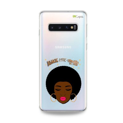 Capinha (transparente) para Galaxy S10 Plus - Black Lives