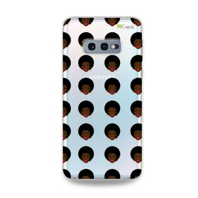 Capinha (transparente) para Galaxy S10e - Black Girl