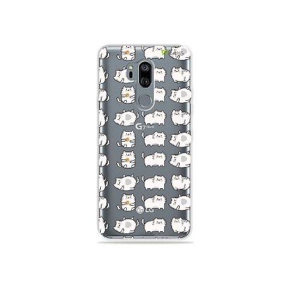 Capinha (transparente) para LG G7 ThinQ - Lazy Cat