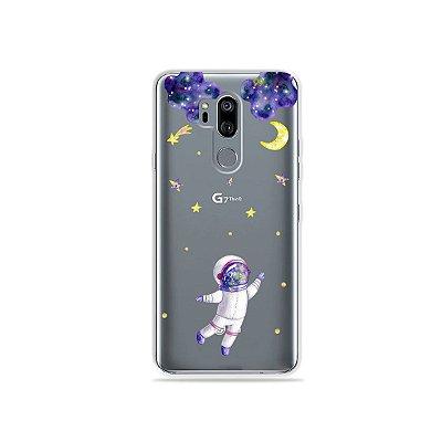 Capinha (transparente) para LG G7 ThinQ - Astronauta Sonhador